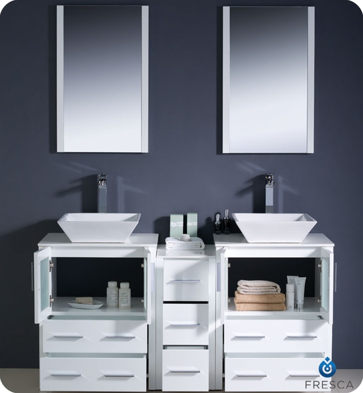 bathroom vanities 60 torino white modern double sink bathroom