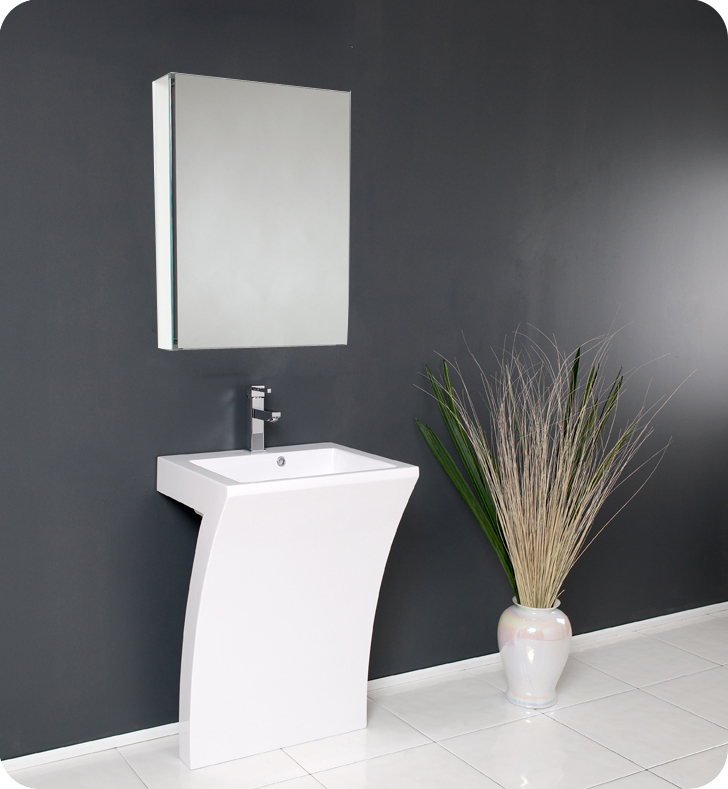 modern bathroom sinks. 22  Quadro White Pedestal Sink Modern Bathroom Vanity Platinum Bath
