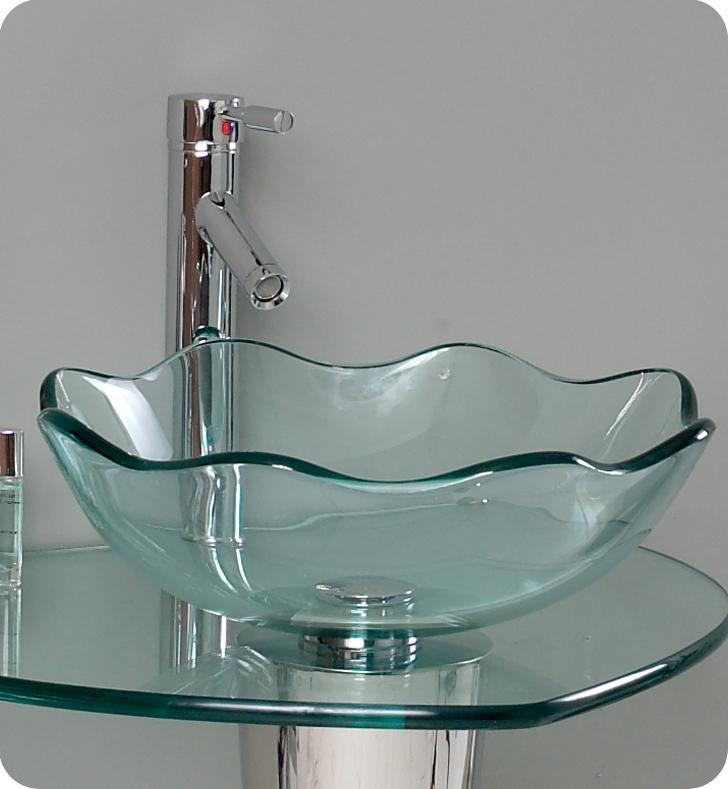 24u2033 Netto Modern Glass Bathroom ...