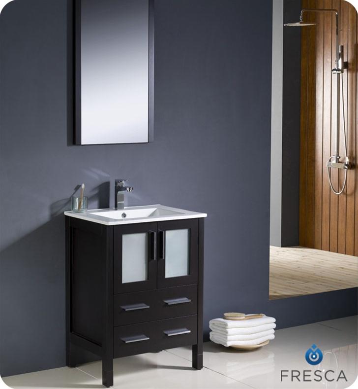 24 torino espresso modern bathroom vanity
