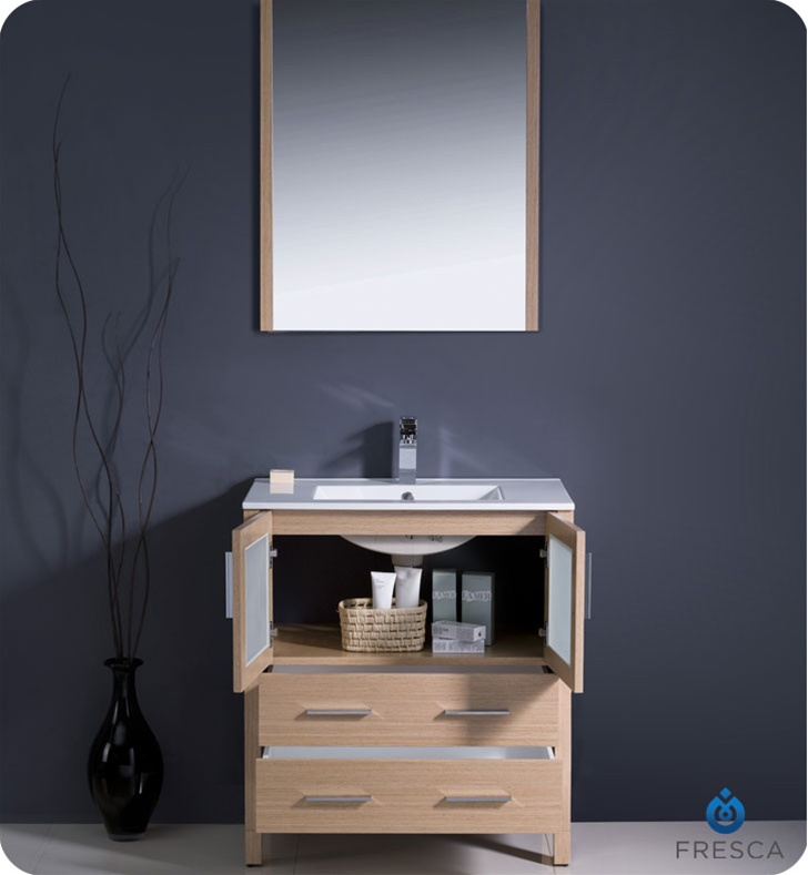 modern bathroom cabinet doors. 30\u2033 Torino Light Oak Modern Bathroom Vanity Cabinet Doors