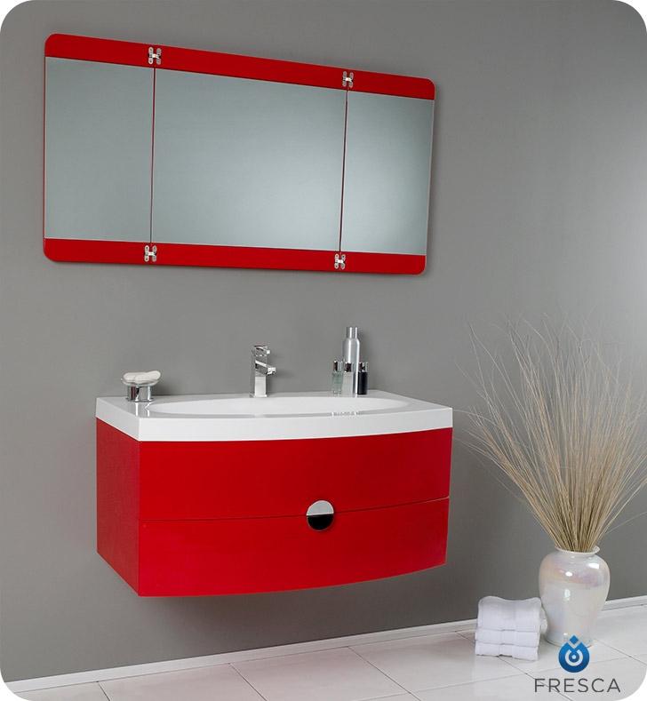 home bathroom vanities 36 energia red modern bathroom vanity w