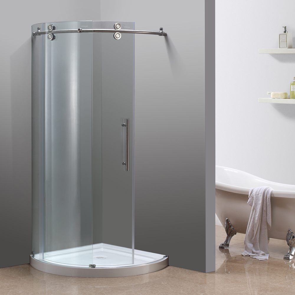 Orbitus Completely Frameless Round Sliding Shower