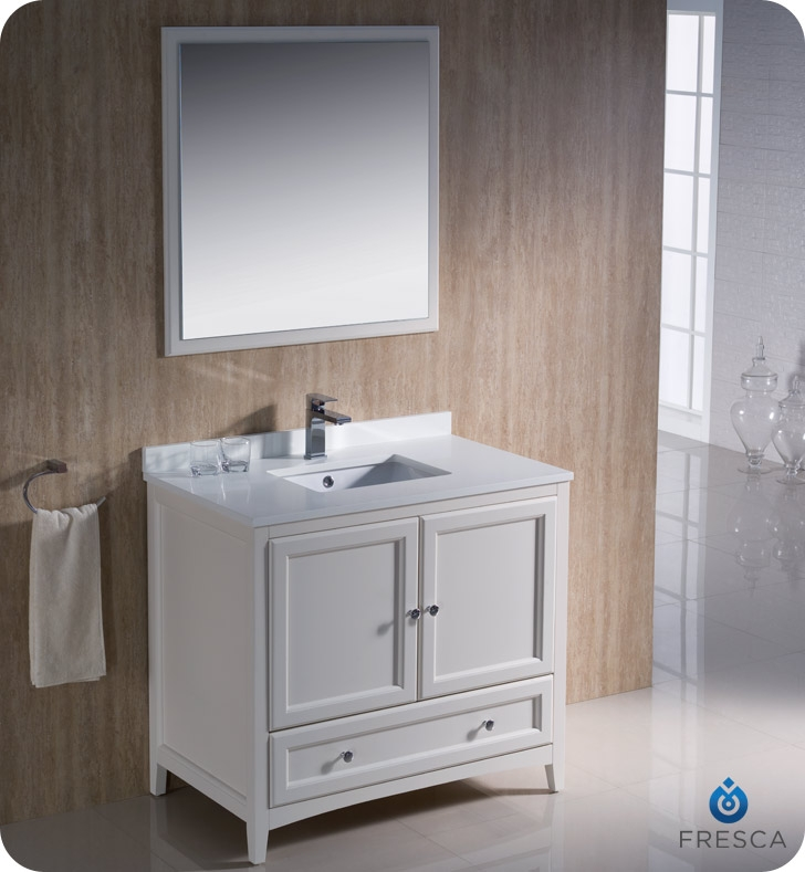 36u2033 Oxford Antique White Traditional Bathroom Vanity