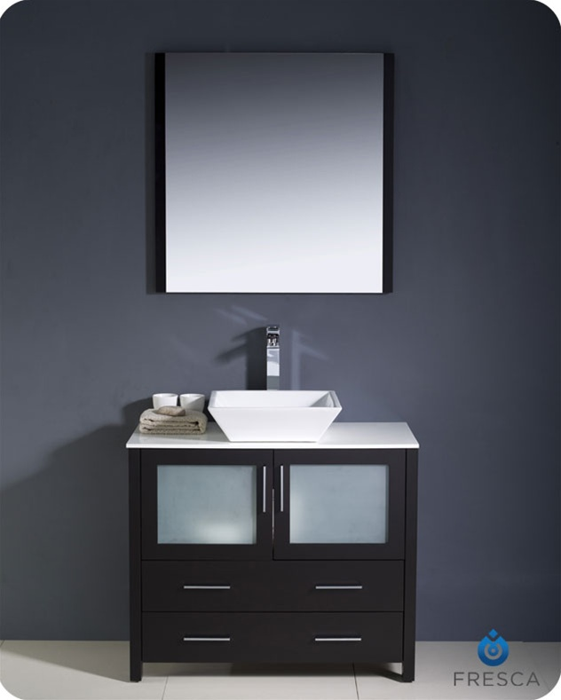 from wood color mounted solid vanity cabinet bathroom wall in espresso