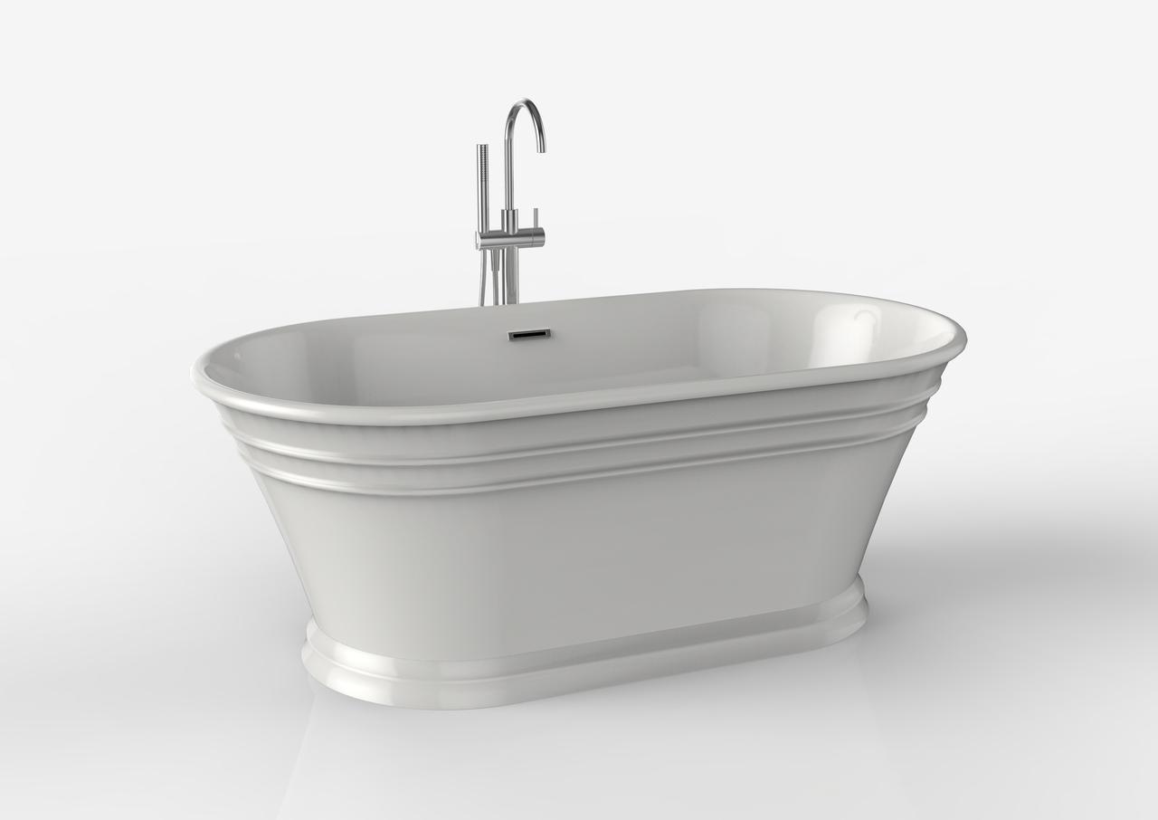 59 Coronado Freestanding Soaker Tub Ballade Floor