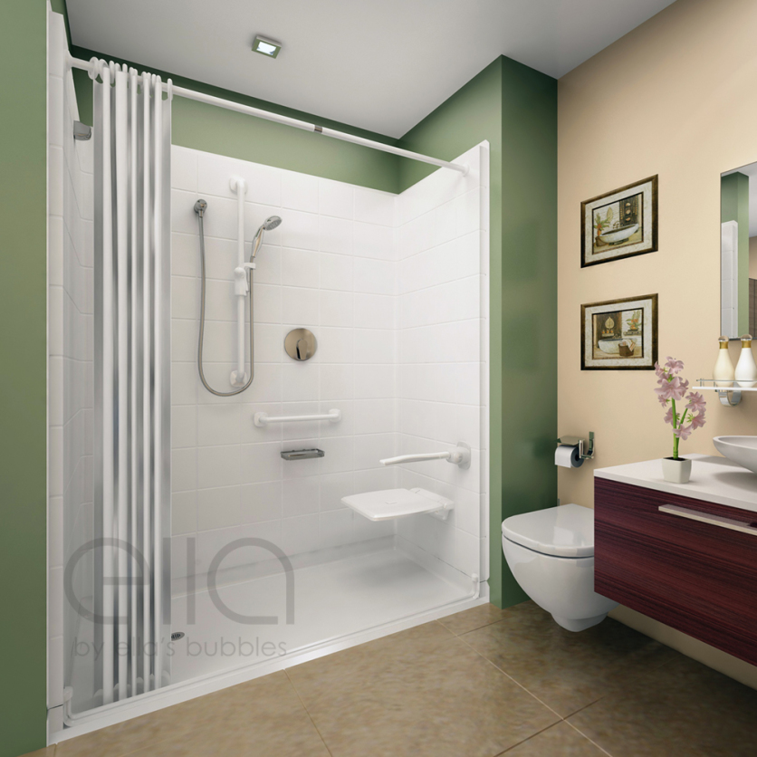 Wheelchair Accessible Roll In Shower Platinum Bath