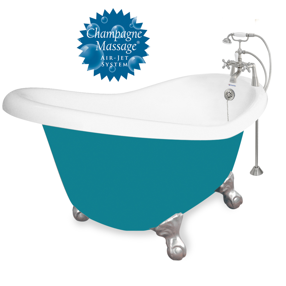 Ascot 60″ Ascot Tub with Splash of Color and Champagne Massage ...