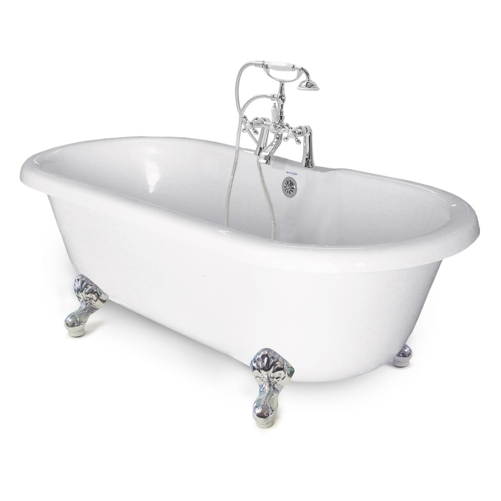 60 Chelsea Double Ended Clawfoot Tub Package Platinum Bath