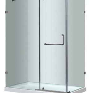"60"" x 35"" Semi-Frameless Shower Enclosure with Base | Platinum Bath"