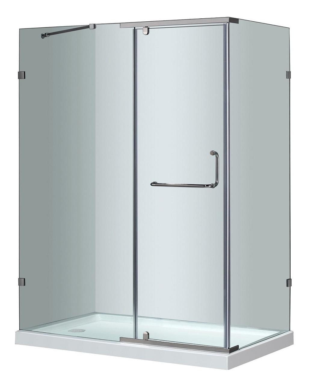 60 X 35 Semi Frameless Shower Enclosure With Base
