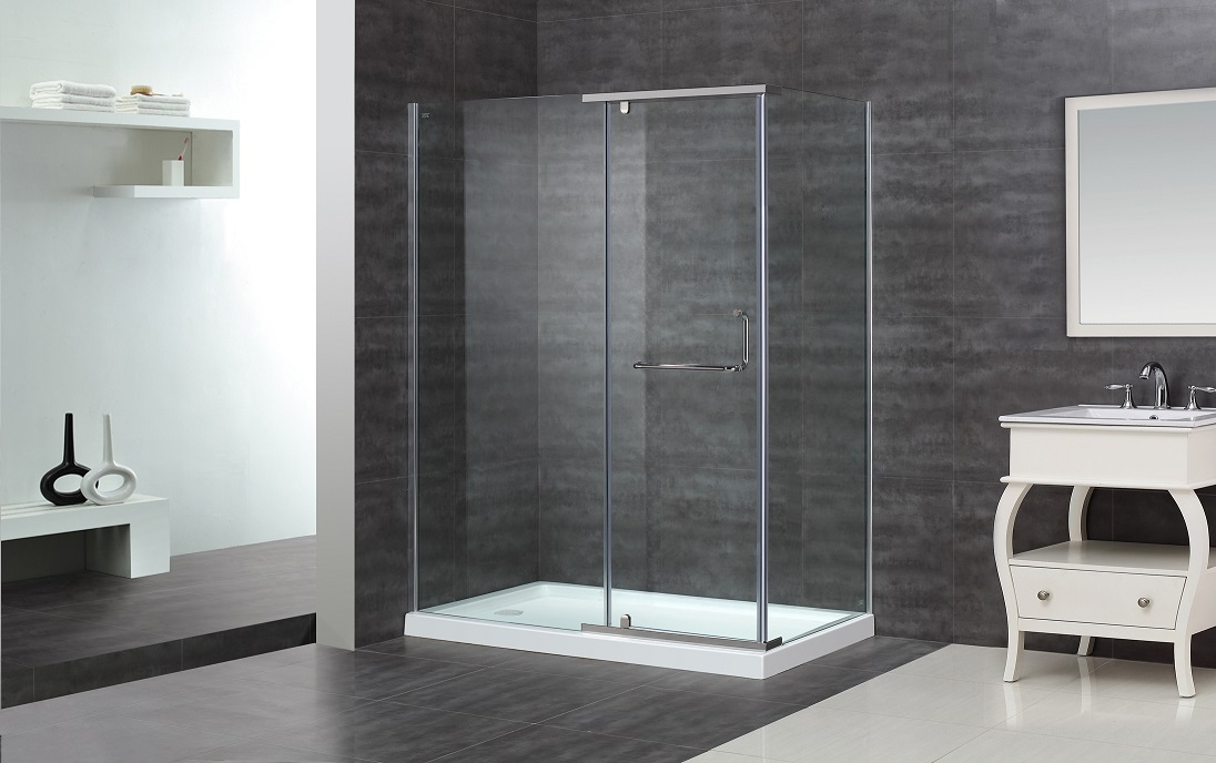 "60"" x 35"" Semi-Frameless Shower Enclosure   Platinum Bath"