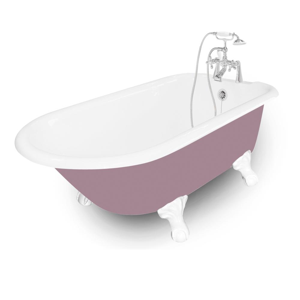 61 Windsor Splash Of Color Cast Iron Package Platinum Bath
