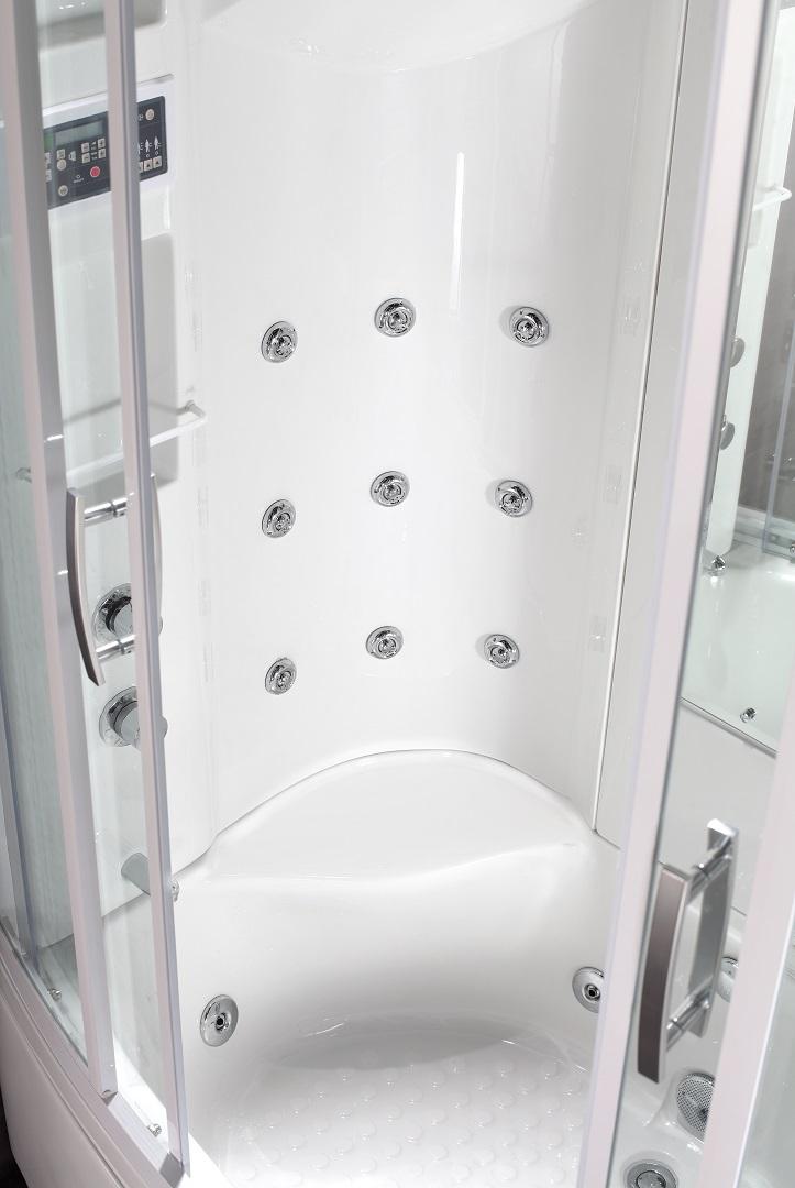 86″ STEAM SHOWER WHIRLPOOL BATH WITH 9 BODY JETS   Platinum Bath