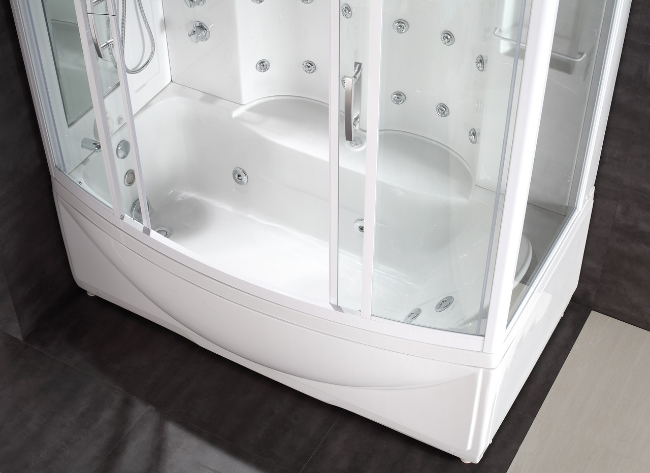 87 steam shower whirlpool bath with 24 body jets platinum bath. Black Bedroom Furniture Sets. Home Design Ideas