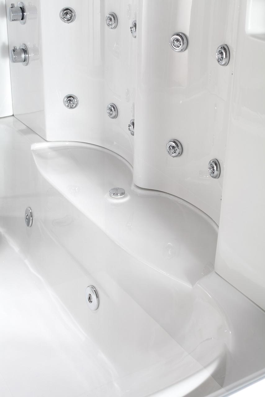 87″ STEAM SHOWER WHIRLPOOL BATH WITH 24 BODY JETS | Platinum Bath