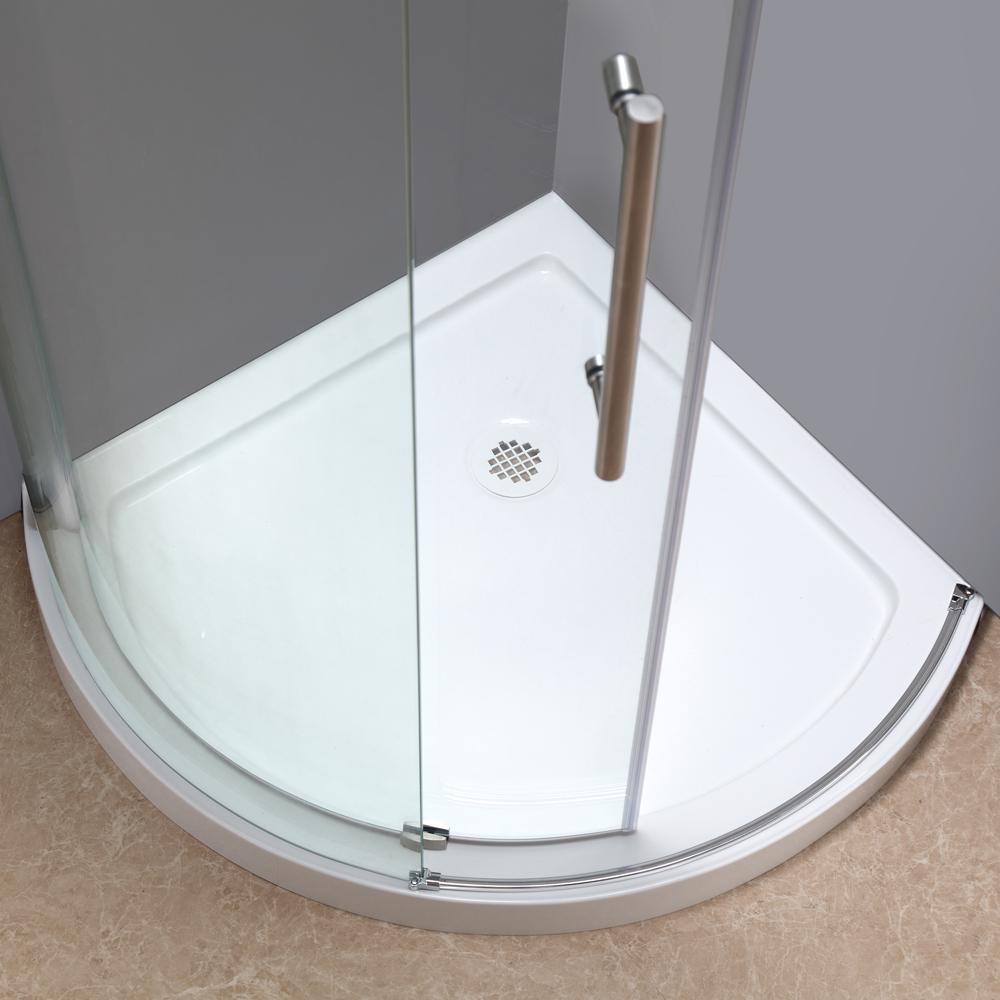 Orbitus Completely Frameless Round Sliding Shower