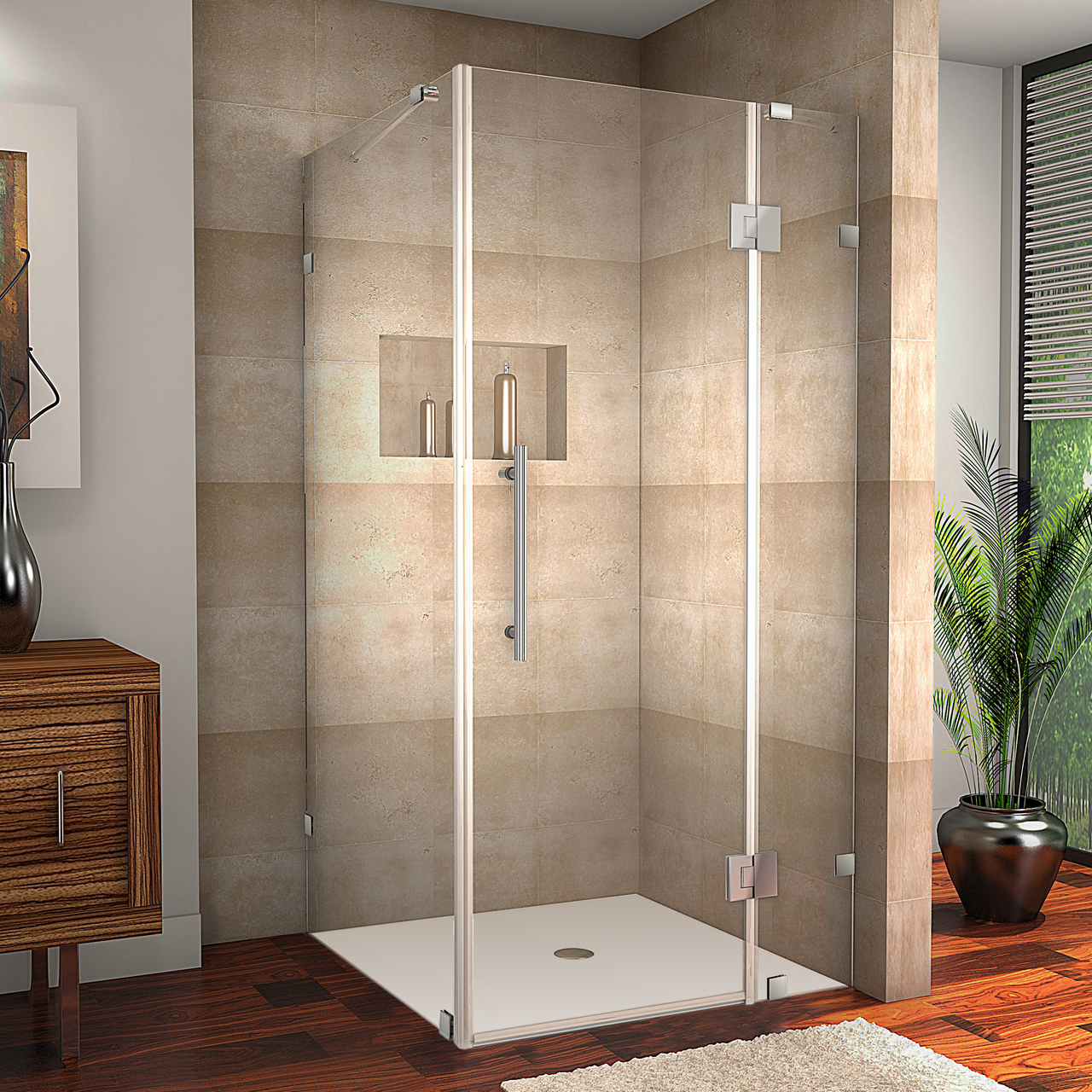 AVALUX COMPLETELY FRAMELESS SQUARE | RECTANGULAR SHOWER ENCLOSURE ...