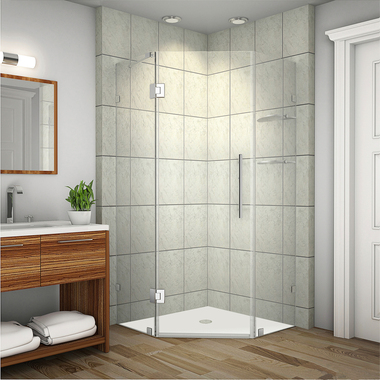 Neoscape Gs Completely Frameless Neo Angle Shower Enclosure With