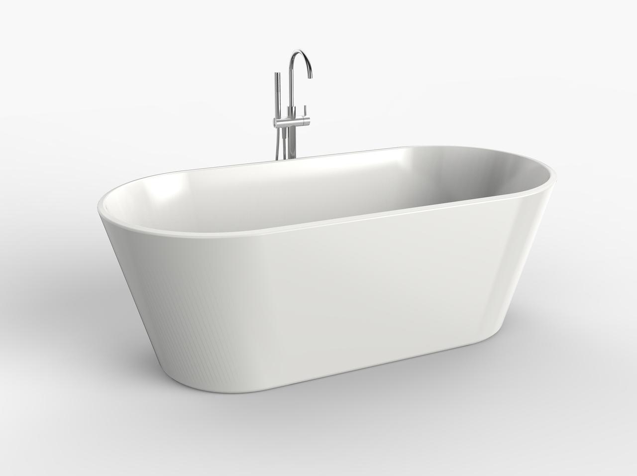 67″ Sutton Deep Oval Freestanding Tub | Platinum Bath