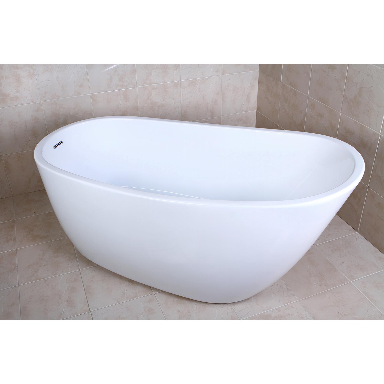 59″ Aqua Eden Contemporary Freestanding Acrylic Bathtub | Platinum Bath