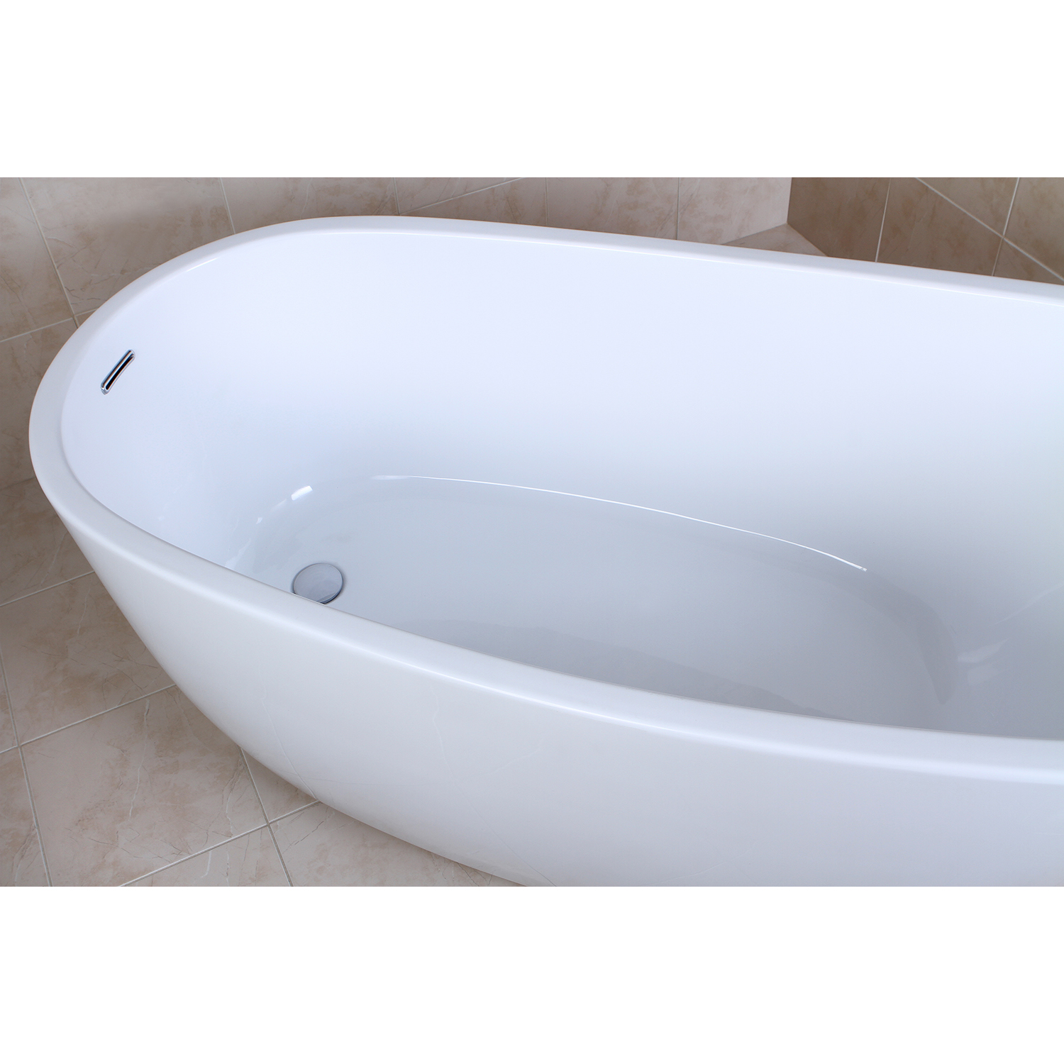 59″ Aqua Eden Contemporary Freestanding Acrylic Bathtub | Platinum Bath