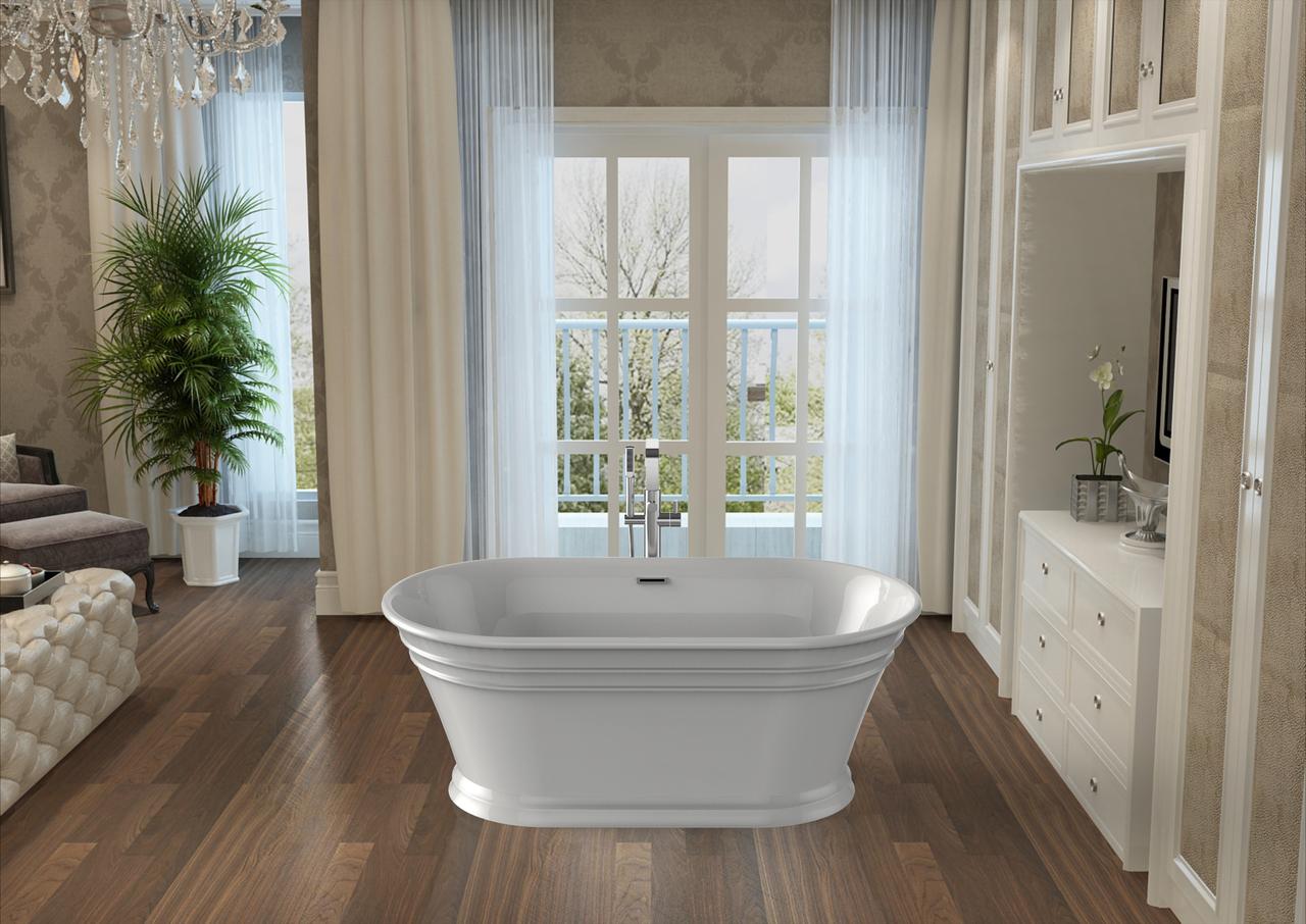 60″ Coronado Oval Acrylic Freestanding Soaker Tub | Platinum Bath