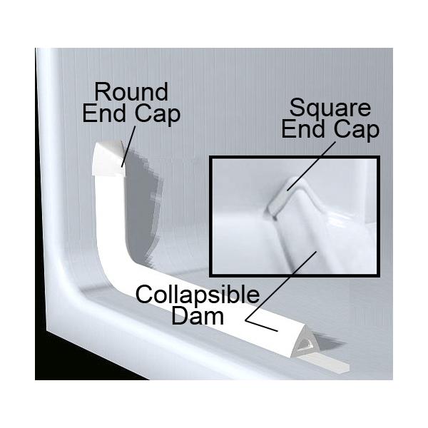 Standard Multi-Piece Barrier Free Roll In Shower AcrylX   Platinum Bath