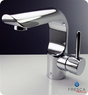 Fresca Platinum Mazaro Single Hole Mount Bathroom Vanity Faucet Chrome