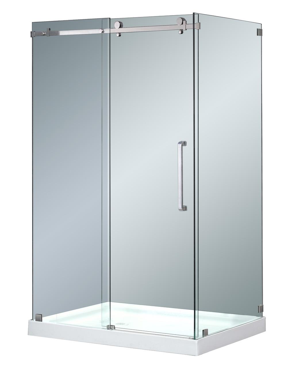 Moselle Completely Frameless Sliding Door Shower Enclosure