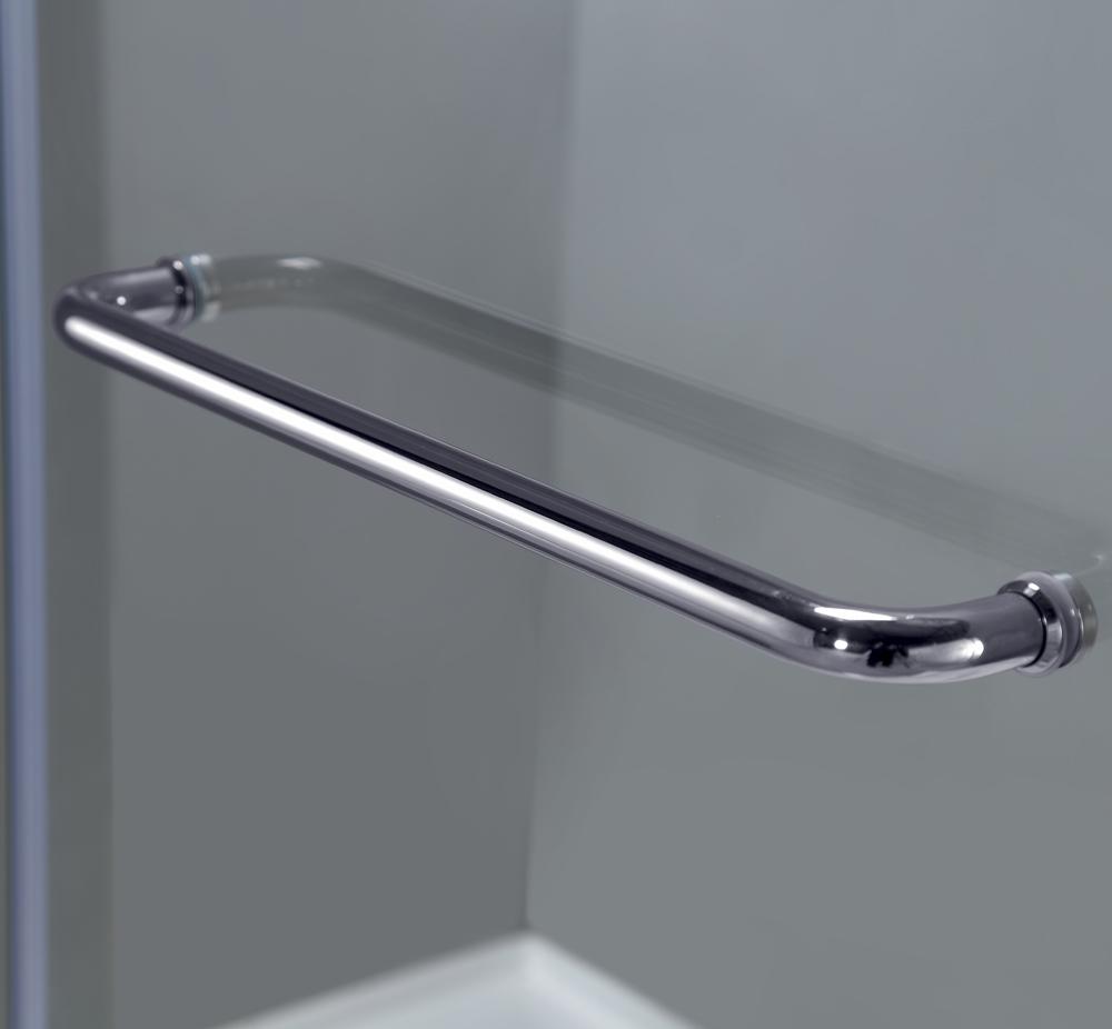 Soleil Completely Frameless Hinge Tub Door Platinum Bath